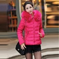 2016 new women's winter jacket clothing fur collar wadded jacket outerwear short women down cotton-padded jacket and coat female