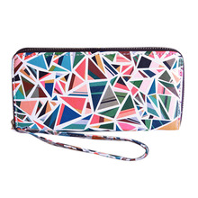Hot Graffiti Geometric Women Leather Wallet Female Clutch Purse Money Bags Fashionable Ladies Burse HandBags Girl Party Notecase