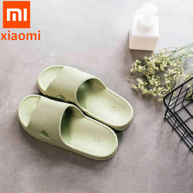 Xiaomi One cloud Slippers Summer Women Home Slippers/bathroom slippers Soft Flip Flops Ladies Man Sandals Casual Shoes Slip(China)