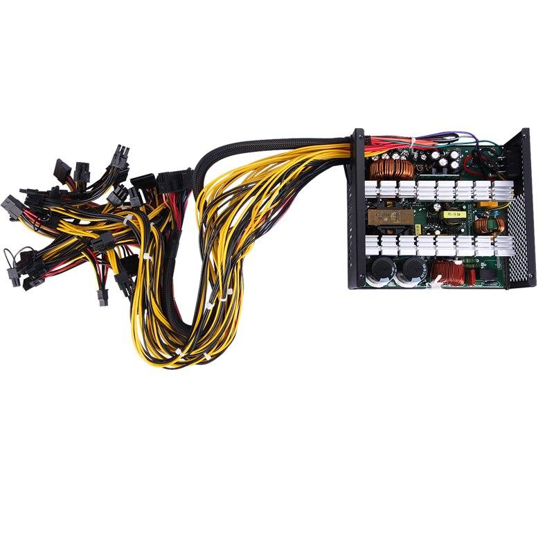 Купить с кэшбэком T.F.SKYWINDINTL Mining Machine Power Supply for ETH/BTC 110V NEW Silent PC 1600W RX480 RX470 RX570 RX580 12v 1600w Power Supply