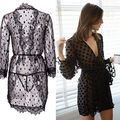 Hot Sale Women Black Sexy Lingerie Nightwear Underwear Women's Ladies Bath Robe Sleepwear Babydoll Lace Dress