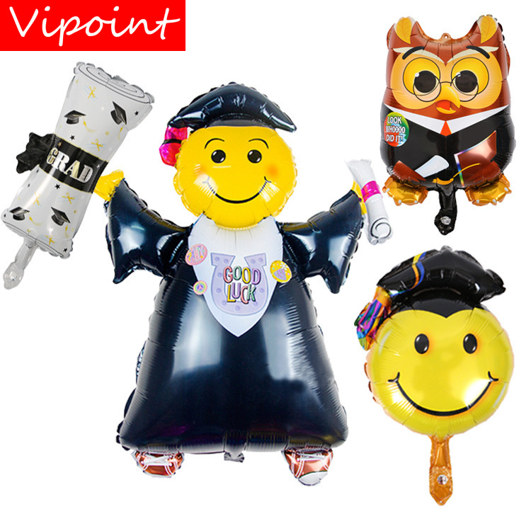VIPOINT PARTY 80x103cm black red doctor graduation foil ballon wedding event christmas halloween festival birthday party HY 176 in Ballons Accessories from Home Garden