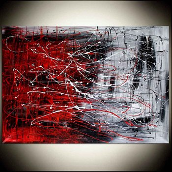 Handmade high quality thick knife abstract oil painting Ice Fire Red Black abstract on Canvas Painting Decor Oil Painting art