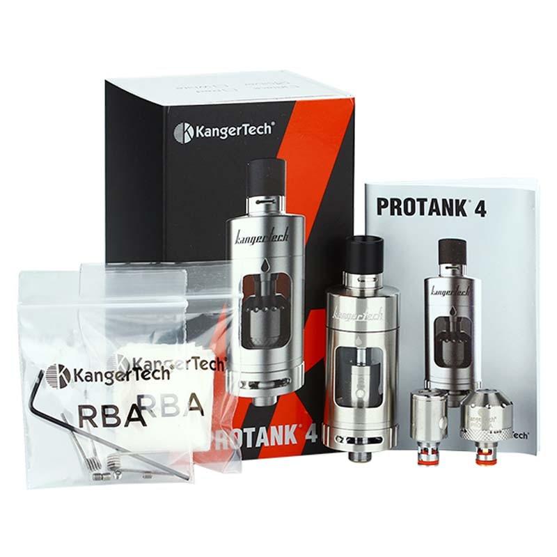 100% D'origine Kangertech Protank 4 Évolué Clearomizer 5 ml Capacité bouche à Poumon Directe du poumon vaping Double Flux D'air Réglable
