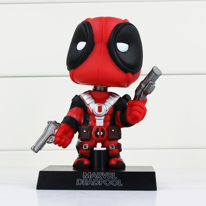 Funko <font><b>Pop</b></font> X-Men <font><b>Deadpool</b></font> <font><b>Figure</b></font> <font><b>Toy</b></font> <font><b>Wacky</b></font> <font><b>Wobbler</b></font> <font><b>Bobble</b></font> Head Action <font><b>Figures</b></font> Doll 13.5cm With Base