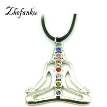 India Buddha Yoga Meditation Healing Chakra Mandala Stones And Crystals Rhinestone Necklace Jewelry Box Women