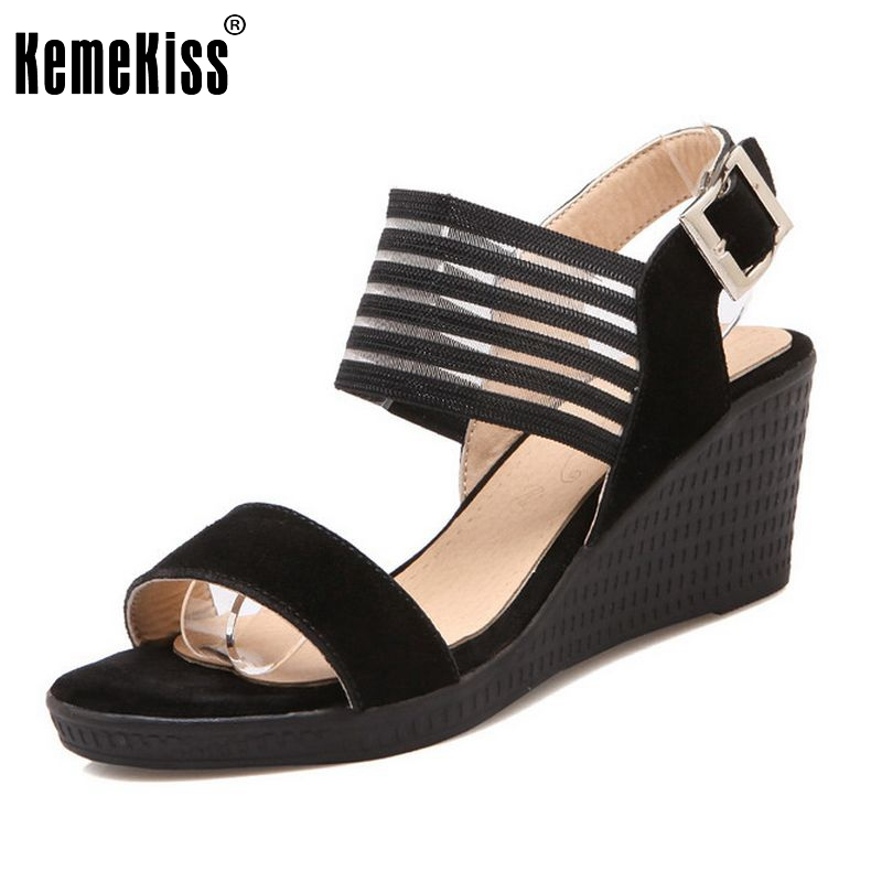 Lady Wedge Sandals Shoes Women Real Leather Shoes Open Toe Platform Shoes Woman Mujer Trifle Shoes Footwear Size 34-39 PA00614 2017 summer shoes woman platform sandals women soft leather casual open toe gladiator wedges trifle mujer women shoes b2792
