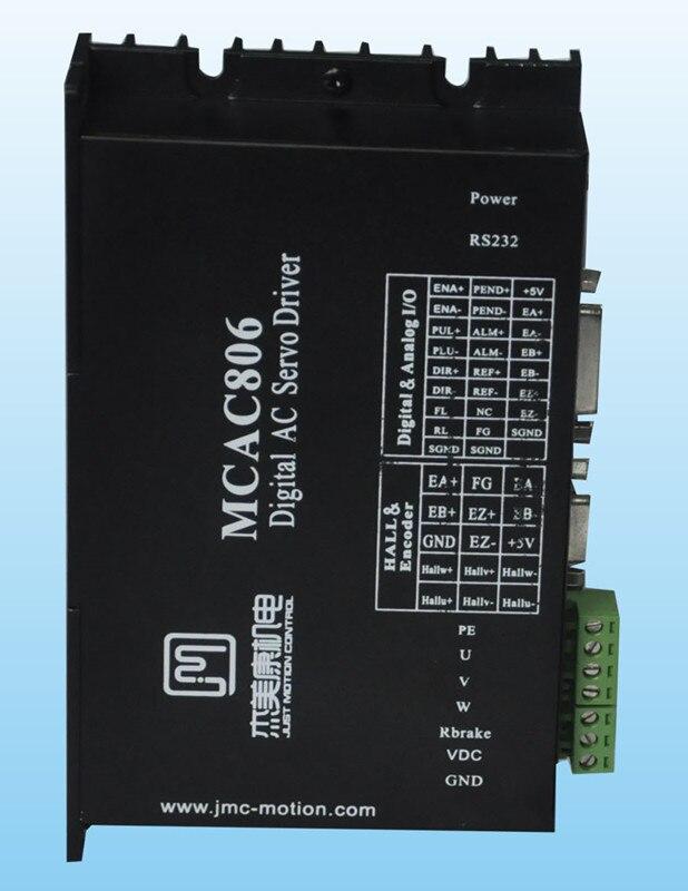 все цены на 80W-400W 36V-80VDC Full closed loop digital AC servo driver JMC MCAC806 онлайн
