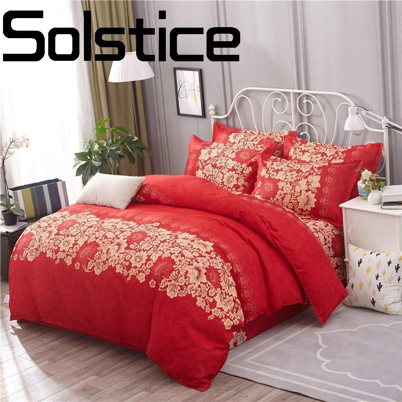 Solstice Pillowcases Quilt-Cover Bedding Dyeing-Sheets Printing Home-Textile Fashion