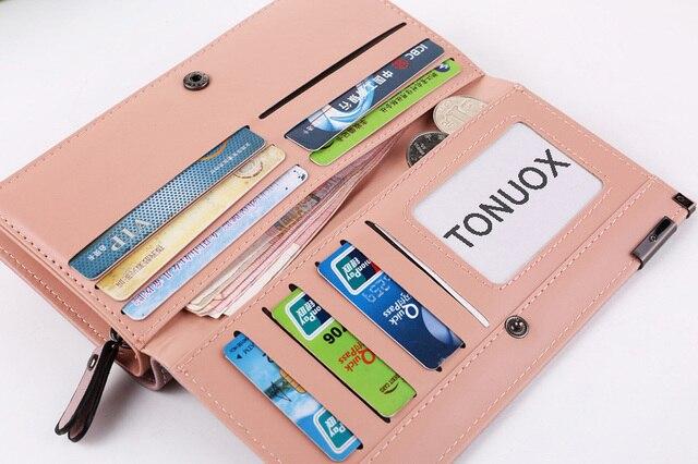 Women Wallets Fashion Lady Wristlet Handbags Long Money Bag Zipper Coin Purse Cards ID Holder Clutch Woman Wallet Purse Notecase 5