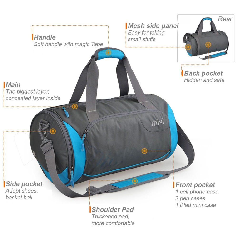 d380394032 NEW! Mixi Trendsetter Gym Bag   Carry On Travel Bag with Shoulder ...