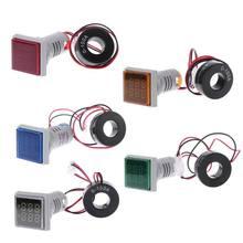Piazza LED Digitale A Doppio Display Voltmetro e Amperometro Tensione Calibro Misuratore di Corrente AC 60-500 v 0-100A