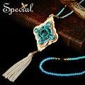 Especial Nueva Moda Collar de diamantes de Imitación de Bohemia Maxi Largo Collar de Perlas Grandes Collares Colgantes para Las Mujeres XL150816 amp