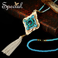 Special New Fashion Maxi Necklace Rhinestone Bohemian Long Necklace Big Beads Necklaces amp Pendants for Women XL150816