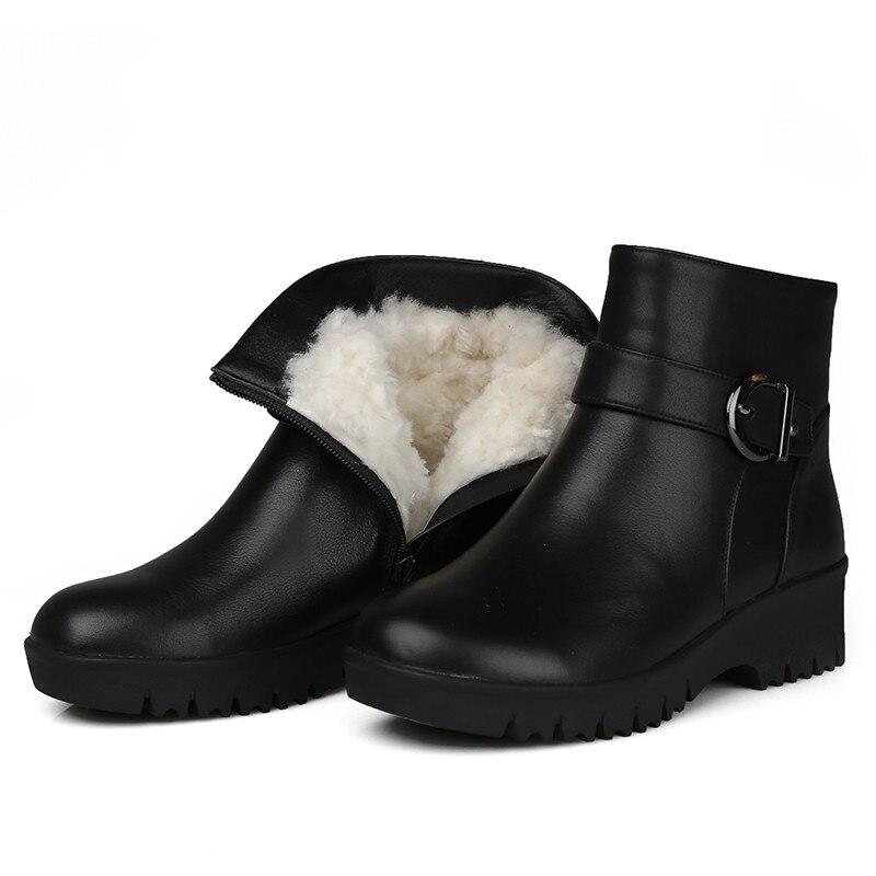 Cheville De Pour Cuir Zip Asumer Véritable Femmes En Au Peau Bottes Mode Garder Noir Chaud Neige Confortable Bout Rond D'hiver Mouton NO8wyvnm0
