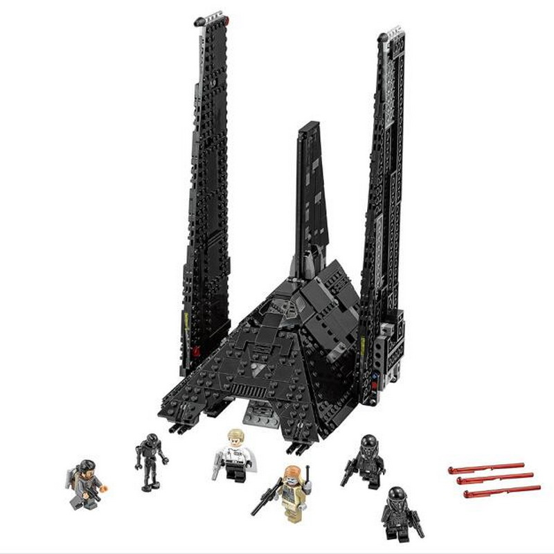 LEPIN 05049 STAR WARS Krennics Imperial Shuttle Figure Blocks Compatible Legoe Construction Building Bricks Toys For Children lepin 22001 pirate ship imperial warships model building block briks toys gift 1717pcs compatible legoed 10210