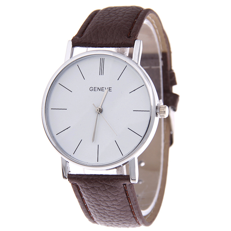 Fashion Women Dress Watch Vintage Genuine Leather Strap Small Dial Watches Quartz Ladies faber orizzonte eg8 x a 60 active