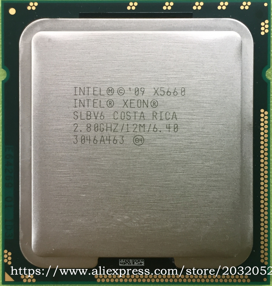 ФОТО Intel Xeon Processor X5660 12M Cache/2.8 GHz/6.40 GT/s Intel QPI LGA1366 Desktop CPU (working 100% Free Shipping)