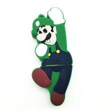 2.0 USB Flash Drive Pen 128GB 64GB 32GB 16GB 8GB 4GB Memory Real Capacity Pendrive Stick Cute Super Mario