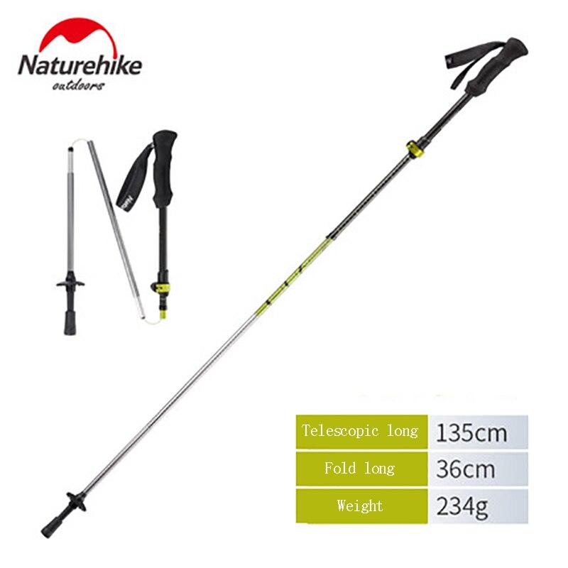 Naturetrekking détachable en carbone Ultra-léger télescopique pliant cinq Sections en forme de Z pliant bâtons d'alpinisme NH17D005-D
