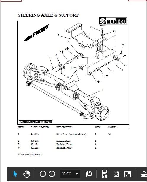 manitou spare parts manual