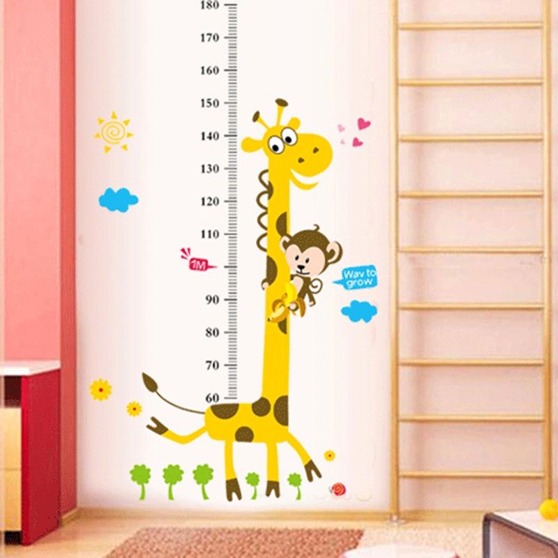 Kids Altura Gráfico Etiqueta de La Pared Decoración de Dibujos Animados Jirafa G