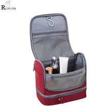 Waterproof Double Layer Travel Toiletry Kit For Men Women Portable Makeup Bag Beauty Cosmetic Storage Bags Carry Wash Organizer