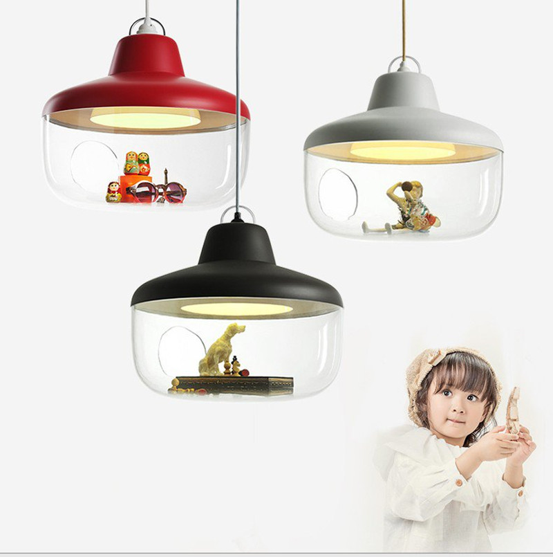 Nordic Creative Led Pendant Lamp Art Acrylic Lovely Kids Room Light Restaurant Studio Hanging Light Fixtures Free Shipping