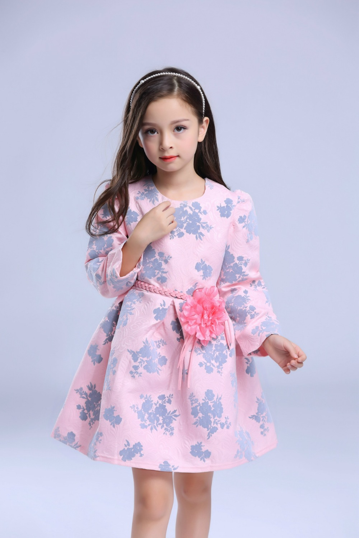 Cute Sweet Baby Girl Dress Kids autumn Prince Party Flower Dress ...