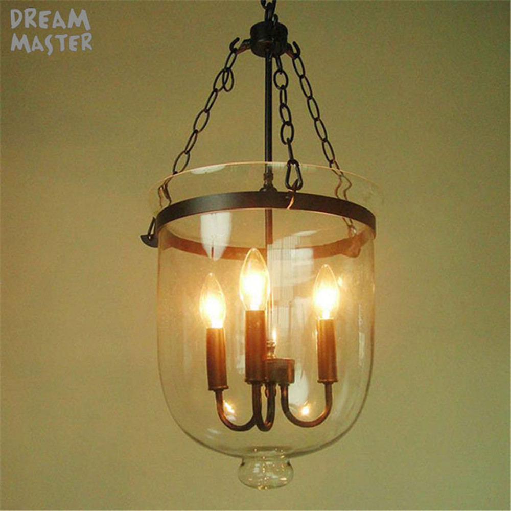 vintage Restaurant Bar Cafe Chandeliers American living room E14 hanging light wrought iron glass lampshade pendant lamp wrought iron glass lampshade pendant lamp creative personality vintage restaurant bar cafe american living room pendant light