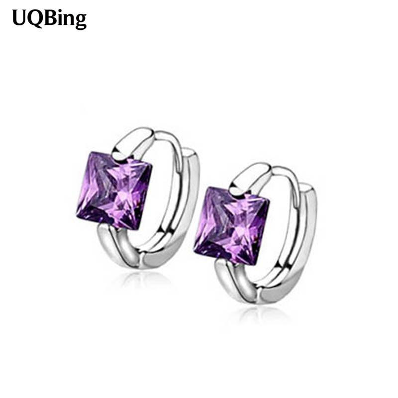 Sammlung Hier Freies Verschiffen Kristall Stein 925 Sterling Silber Clip Ohrringe Allergie Frei Frauen Ohrringe Pendientes Plata Brincos Ohrringe