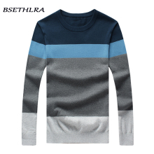 BSETHLRA 2017 New Sweater Men Autumn Hot Sale Top Design Patchwork Cotton Soft Quality Pullover Men O-neck Casual Brand Clothing