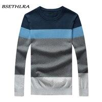 BSETHLRA 2017 New Sweater Men Autumn Hot Sale Top Design Patchwork Cotton Soft Quality Pullover Men