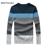 BSETHLRA 2017 New Sweater Men Autumn Hot Sale Top Design Patchwork Cotton Soft Quality Pullover Men