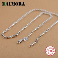 BALMORA 100 Pure 925 Sterling Silver Jewelry Chains Necklaces For Women Men Pendant Accessories Wholesale Bijoux