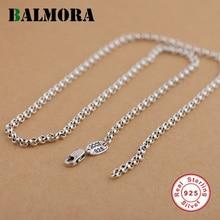 BALMORA 100% Pure 925 Joyas de Plata Cadenas Collares para Las Mujeres de Los Hombres Colgante de Accesorios Al Por Mayor de Bijoux JLWC60127