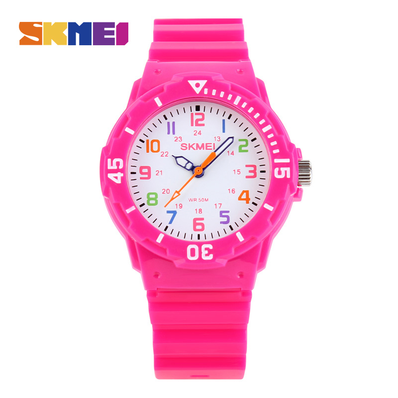 SKMEI Children Sport Quartz Watch Waterproof Jelly Kids Clock boys Hour girls Student Watches PU Strap Fashion Wristwatch 1043 цены