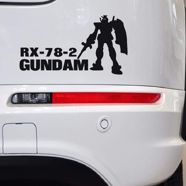 Free shipping new personal charm cool anime gundam up car stickers scratches shelter car covers