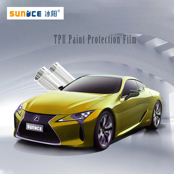 TPU Sunice Car paint protection films Transparent PPF 3 layers Protective film self healing rino DIY Car sticker Foils 1.52x30m