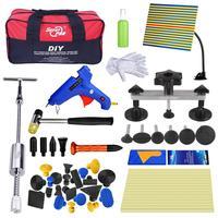 PDR Tools Kit 2in1 Dent Puller Reflector Paintless Dent Repair Tool Auto Pulling Bridge Glue Gun Tool Kit For Car Hand Tools Bag