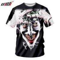 UJWI New Fashion 3D The Crazy Joker T shirts Dark Souls Funny Cool Men Tops Tees Hip Hop Novelty T Shirts Casual Harajuku 5XL