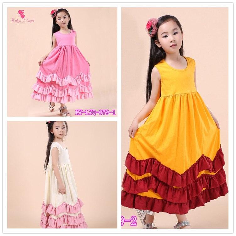 Summer long dresses for kids