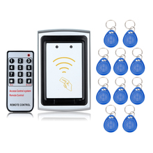 125KHz Waterproof  RFID Metal Access Control without digital keypad button electric locks+10 Key Fobs for Door security System