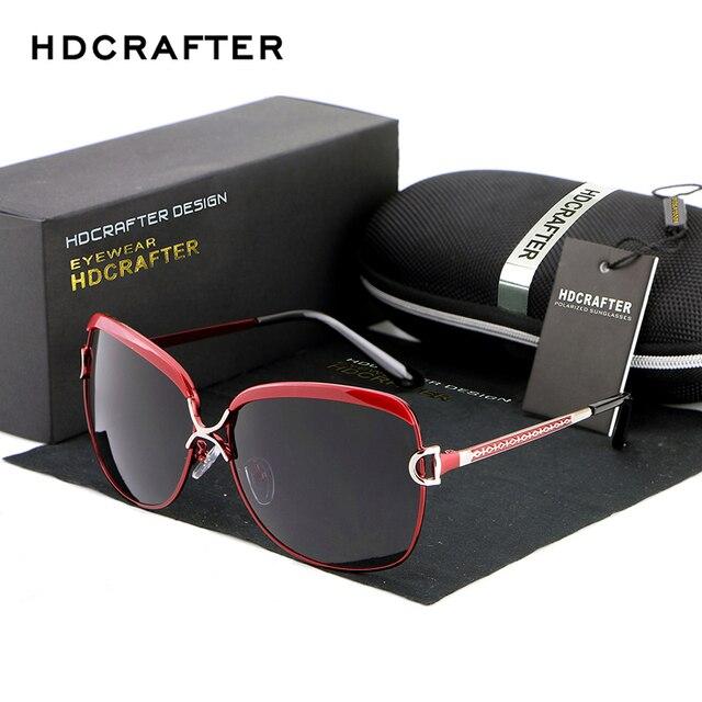 HDCRAFTER Luxury Sunglasses Women Brand Designer Female Retro Large Sun glasses UV400 oculos de sol