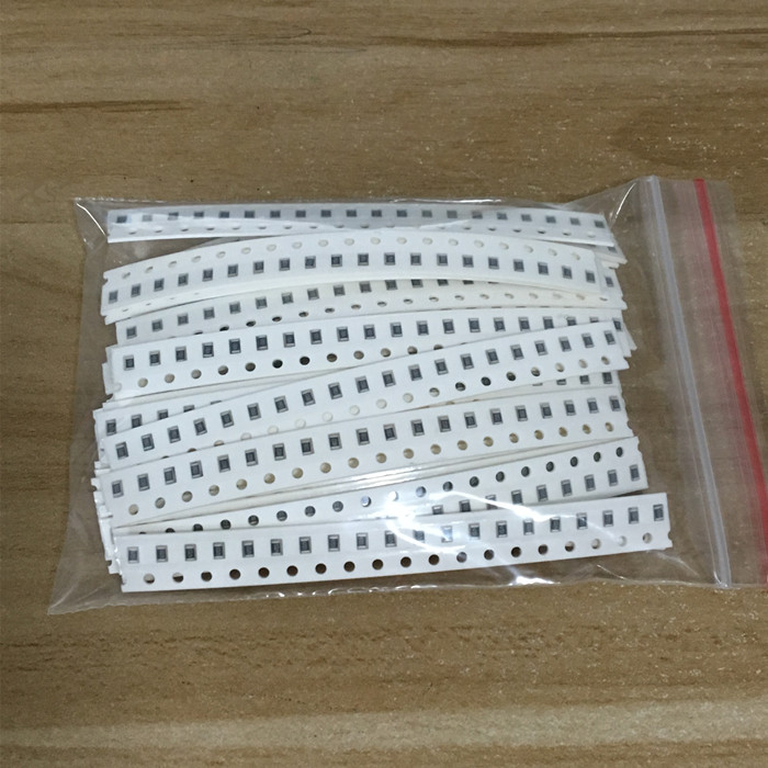 0805 SMD Resistor Kit Assorted Kit 1ohm-1M ohm 1% 33valuesX 20pcs=660pcs Sample Kit 5000pcs 0805 1m1 1 1m ohm 5% smd resistor