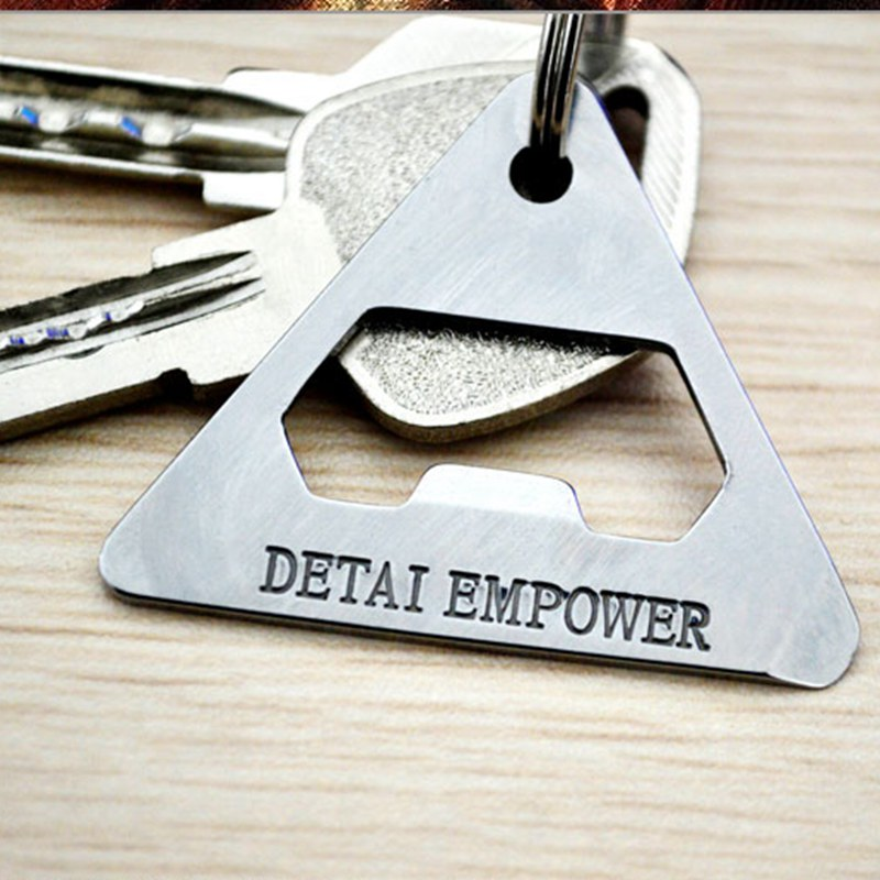 EDC Stainless Steel Key Card Tool Bottle Opener Wrench Screwdriver Box Open