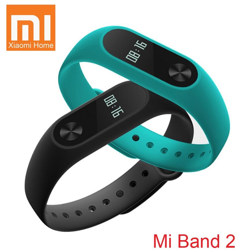 imágenes para En stock original xiaomi mi banda 2 miband 2 fit 2 inteligente de Ritmo Cardíaco de Fitness Pulsera Reloj Pantalla OLED Para iOS Android
