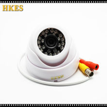 HKES Wide Angle Surveillance Security Camera 24 LED IR Color CCD Indoor Dome CCTV AHD CAM 1080P 960P 720P