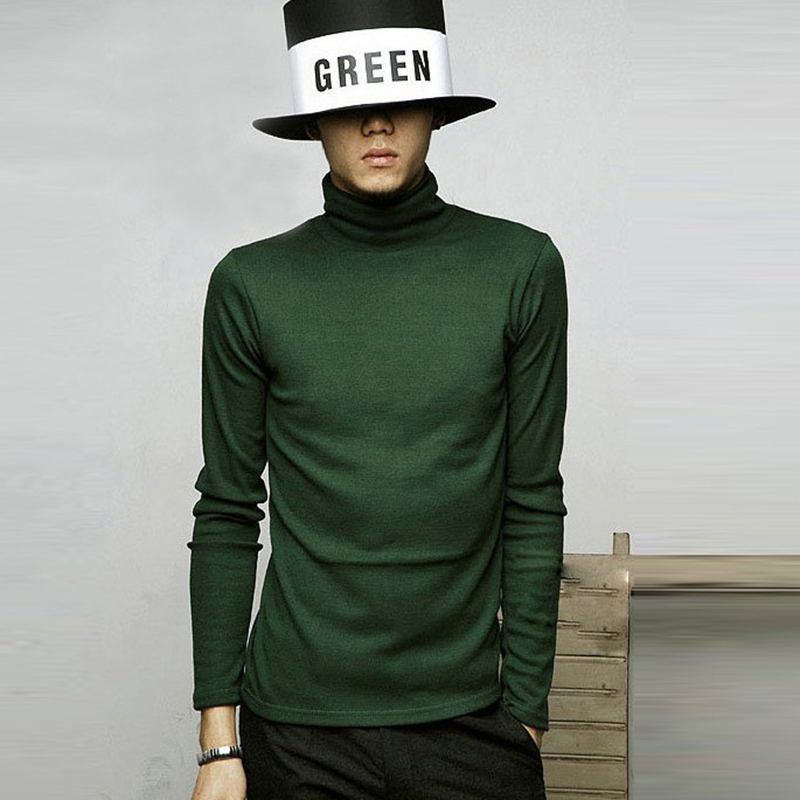 New Winter Autumn Mens Turtleneck Sweaters Black Pullovers Clothing For Man Cotton Knitted Sweater Male Sweaters Pull Hombre