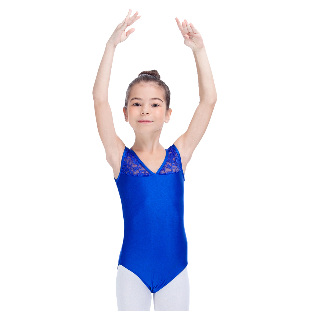 7552a54bb7ec Royal Blue Shiny Lycra Lace Tank Leotards Ladies and Girls Ballet Dance  Gymnastics Bodysuit Full Sizes-in Ballet from Novelty & Special Use on ...
